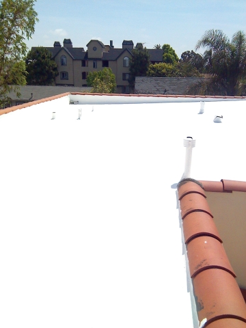 Tropical Elastomeric White Coating! Energy Star Roof!